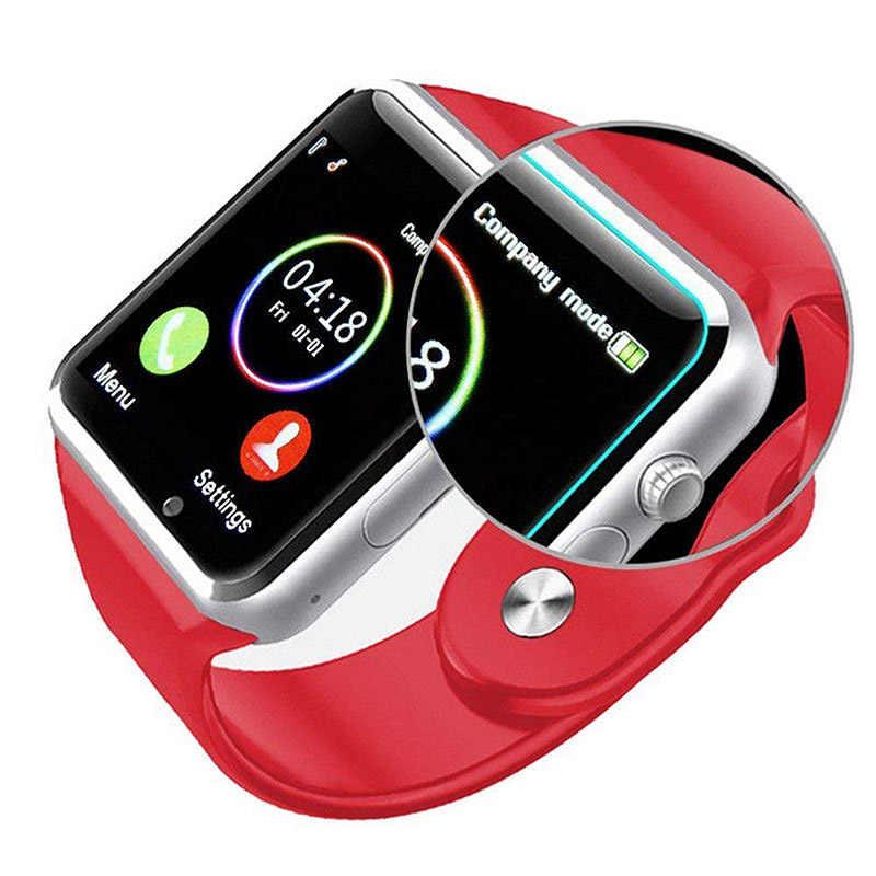 2019 nieuwe A1 Bluetooth smart watch sport rekenmachine Android telefoontje Relogio 2G GSM SIM TF card camera telefoon PK GT08