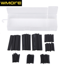 цена на 127pcs/set 2:1 Assorted Polyolefin Heat shrinkable tube Wire Cable Insulated Sleeving Tubing Set  black mixsize Shrinkable Tube