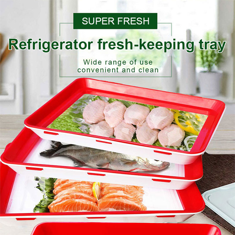 4 шт. Еда сохранение лоток творческий Еда Свежий Многоразовые Пластик эластичную пленку пряжки вакуум Кухня Еда контейнер для хранения