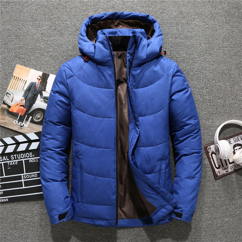 Image 5 - 2019 New Brand Winter Jacket Men Hat Detachable Zipper 90% White Duck Thick Down Jacket Men Coat Snow Parkas male 4 Colors-in Down Jackets from Men's Clothing