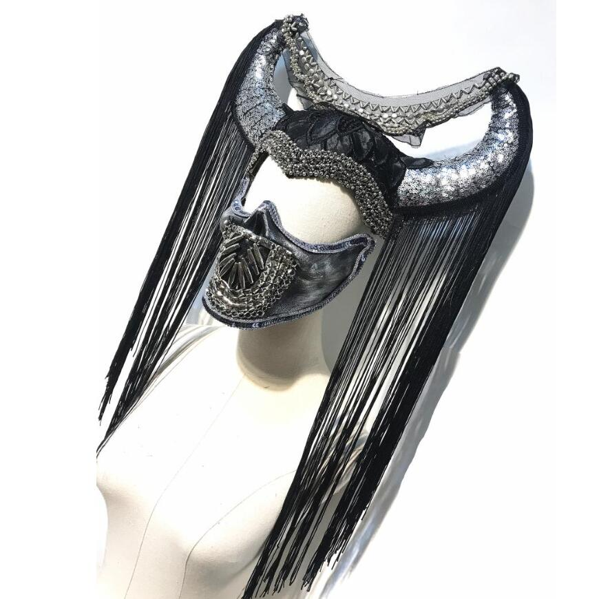 Aboriginal Sheepshead Halloween Ox Horn Headpiece Novelty Horns Cosplay With Mask