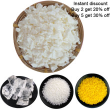 Natural Soy Wax for DIY Candle Making Supplies Smokeless Waxed Candles Wicks Raw Material Handmade Gift candle wax White beeswax