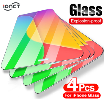 4Pcs Protective Glass For iPhone 12 glass 7 8 6 Plus Screen Protector For iPhone X XS XR 11 12 Pro Max 12 Mini Tempered Glass 1