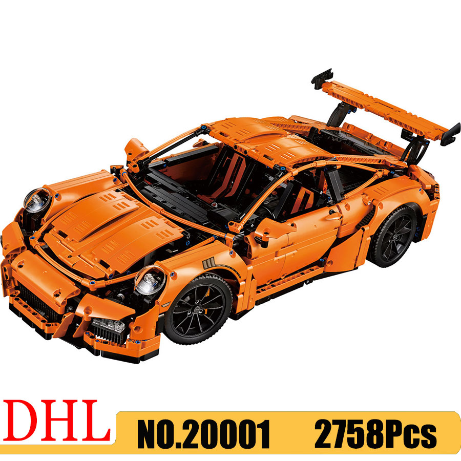 Building Blocks 20001 Race Car 911 GT3RS Model <font><b>Technic</b></font> Sports Car Series Compatible <font><b>42056</b></font> Toys Kids Christmas Gift image