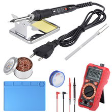 JCD LCD soldering iron kits with Digital multimeter Temperature Adjustable 220V 80W solder iron kit ESD insulation Silicone pad