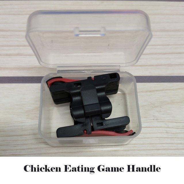 D9Mobile أذرع التحكم في ألعاب الفيديو غمبد البلاستيك L1R1 لوحات المفاتيح الهاتف عصا التحكم الحساسة تبادل لاطلاق النار والهدف المشغلات تحكم المحمول ل pubg 4
