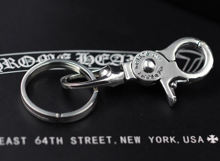 S925 sterling silber männer schlüsselbund persönlichkeit klassische punk stil hip hop dominierenden kreuz ring form senden liebhaber geschenk schmuck - 3