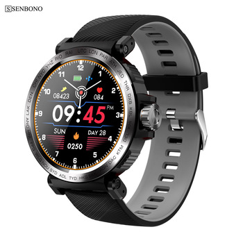 SENBONO 2020 new IP68 Waterproof Men Smart Watch Heart Rate Monitor Fitness Tracker Women Smartwatch For IOS Android Phone clock 1