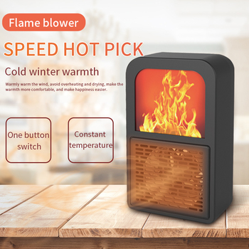 Portable 3D Flame Heater Space Home Mini Electric Heaters Heated Room Heaters Fan Small Heating Stove Radiator Machine for EU/US radiator oil delonghi trrs0715e g oil heater heater for home heating home heaters warmers mini household appliances for home