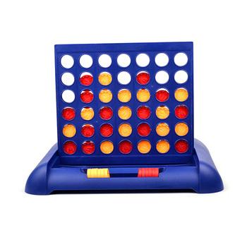 Zabawka edukacyjna gra w szachy cztery czterokrotne szachy gra planszowa pionowa niebieska pionowa połącz planszę warcaby bezpieczna zabawka Backgammon tanie i dobre opinie Other 2 lat Connect Four Chess Toy Parent-Child Board Game Toys Connect Four Chess Toy non-toxic