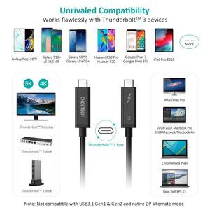 Image 5 - Choetech Thunderbolt 3 kablo 2M 6.5f 40Gbps 100W 5A/20V destek 5K UHD veya 4K 60HZ ekran USB tipi C HDMI kablosu Macbook Pro