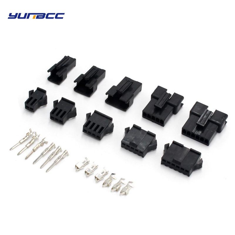 10 комплектов 2/3/4/5/6/8 шпильки шаг SM мужского и женского разъем провода Корпус SM-2P SM-2R JST SM2.54