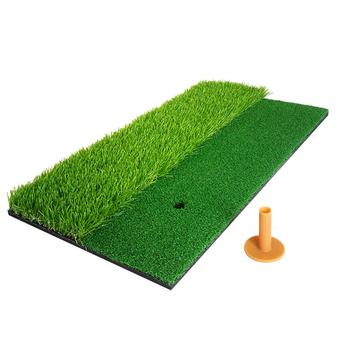 2-in-1 Golf Hitting Practice Training Mat Artificial Lawn Grass Pad With Tee Percet Design Durable Golf Practice Mat