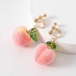 New Style Fashion Cute Popular Pink Peach Blossom Fruit Earrings Female Long Water Drop Dangling Jewelry Gifts Multiple Styles