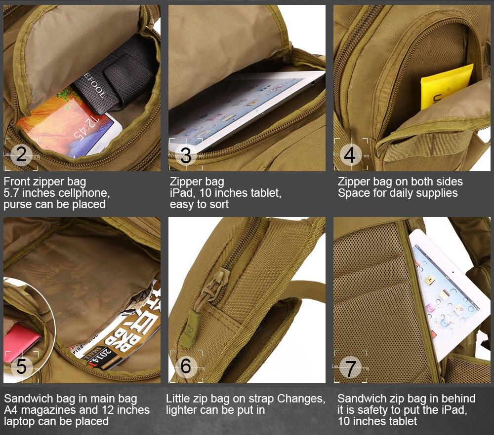 Molle Bag Militare Escursione 10