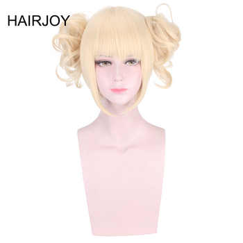 HAIRJOY włosy syntetyczne My Hero Academia Toga Himiko peruka do Cosplay