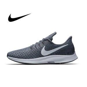 Мужские кроссовки для бега NIKE AIR ZOOM PEGASUS 35, сетчатые дышащие кроссовки с поддержкой стабильности, дизайнерские спортивные кроссовки, новинка...
