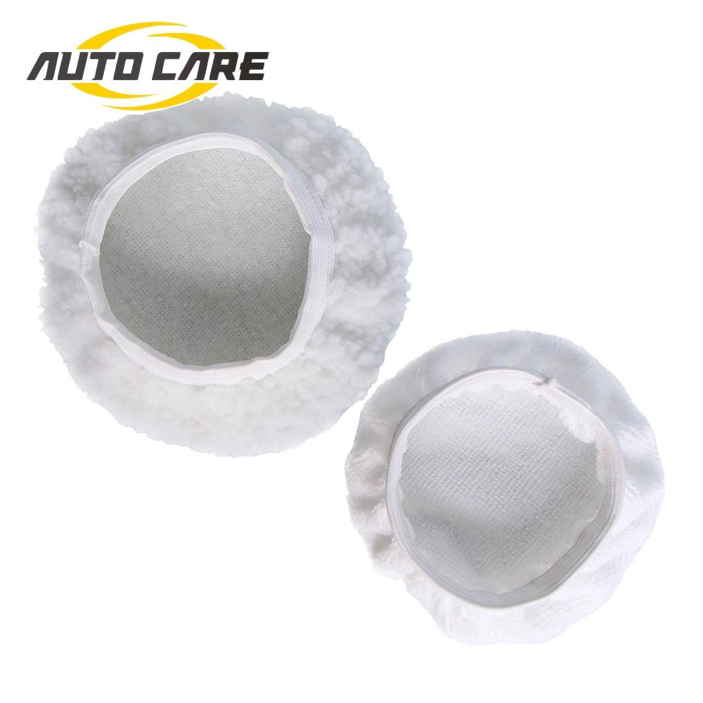 6Pcs //Set 7-8 inch Polishing Bonnet Buffer Pads Soft Wool Car Polisher Waxing