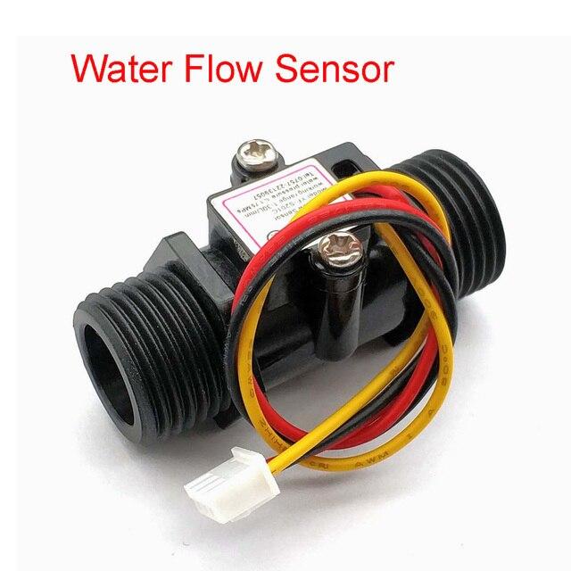 Su akış ölçer debimetre Hall akış sensörü göstergesi sayacı Caudalimetro G1/2 0.5 25L/dak 1.2MPa F = 6 * Q akış sensörü