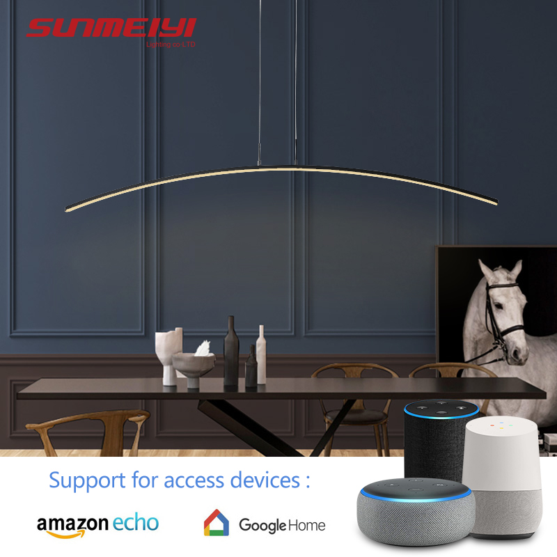 Nordic LED Pendant Lights Voice Control Google home Modern Lighting For Kitchen Living room Bar Intelligent Dining room Lamp