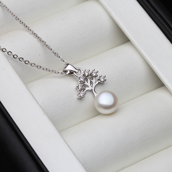 Wedding Pearl Heart Necklace Real Natural Freshwater Pearl Pendant 925 Sterling Silver Jewelry For Women Gift