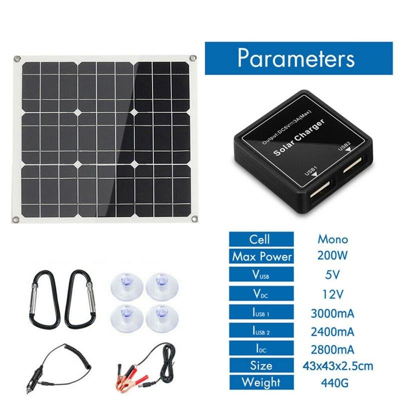 novo 200 watt 200 w painel solar kit 04