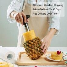 1 adet paslanmaz çelik kullanımı kolay ananas soyucu aksesuarları ananas dilimleme meyve bıçağı kesici tart dilimleme mutfak gereçleri Ev aksesuarları 3 renk Meyve köşesi Mutfak robotu Mutfak malzemeleri