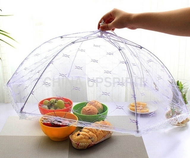 1PC Newest Umbrella Style Food Cover Anti Fly Mosquito Meal Cover Lace Table Home Using Food Cover Kitchen Gadgets Cooking Tools 1