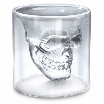 Whiskeyglas Dödskalle
