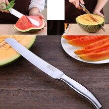 Кухонные ножи из нержавеющей стали длинный кухонный нож для фруктов вырезанный арбуз инструмент для овощей артефакт специальный нож резак для торта