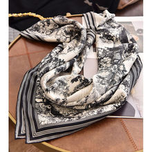 Ink Art Type 100% Silk Scarf Wraps for Women Top Grade Scarves