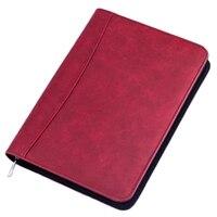 A5 Padfolio mit Rechner Zipper Binder Notebook Aktentasche Datei Executive Ordner Spirale Reise Hinweis Buch