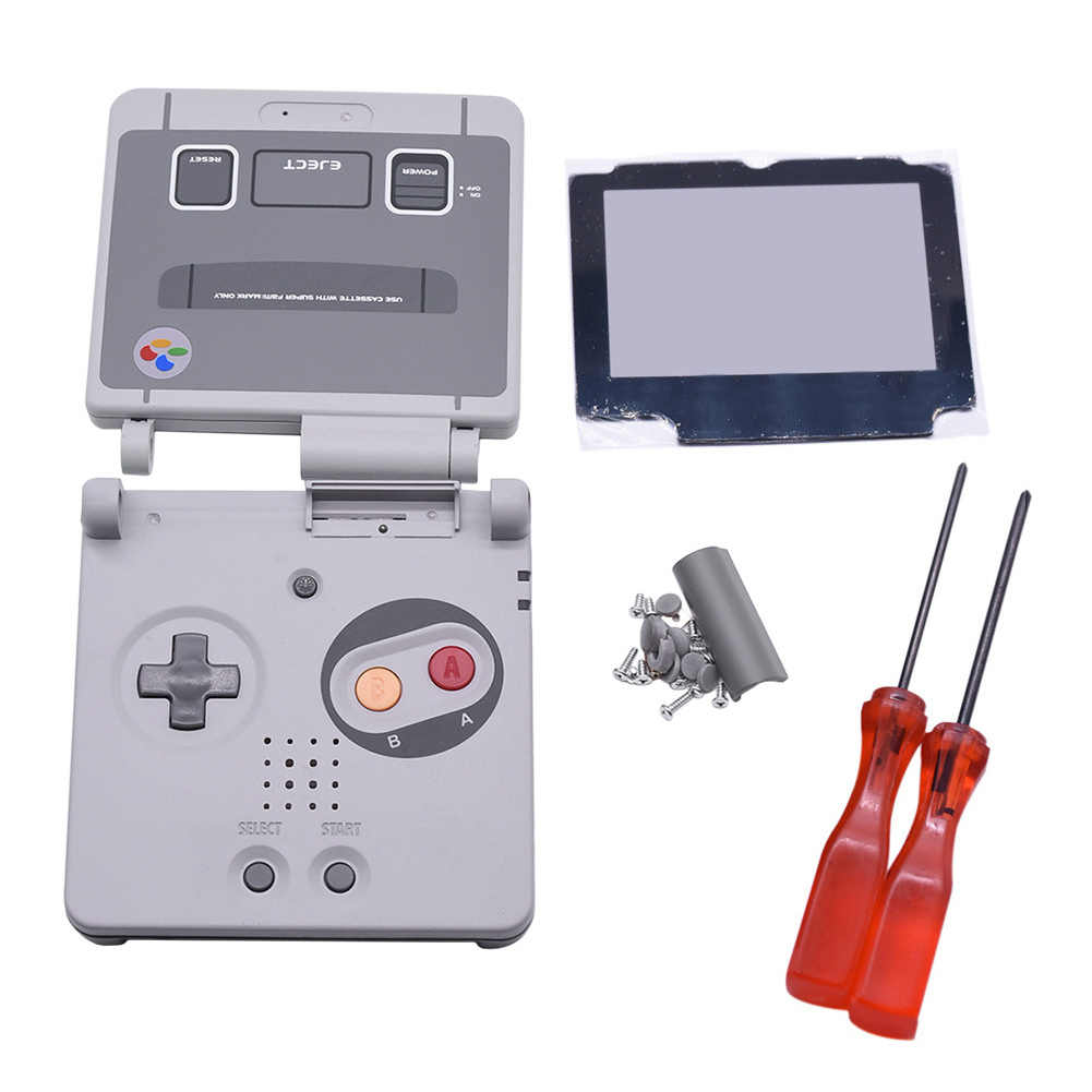 Limited Edition Replacement Housing Shell Case Cover + Screen Lens + Screwdriver for Nintendo Gameboy Advance SP GBA SP Console