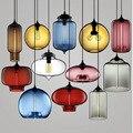 Красочные стеклянные подвесные светильники 7 цветов выбор подвесной светильник для ресторанов и баров лампа Подвесная лампа для спальни ук...