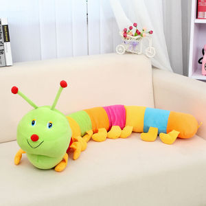 1pc Colorful Caterpillars Plush Kids Toys For Children 50cm Soft Plush Hold Pillow Doll Boys Girls Toy Peluche Cushion New(China)