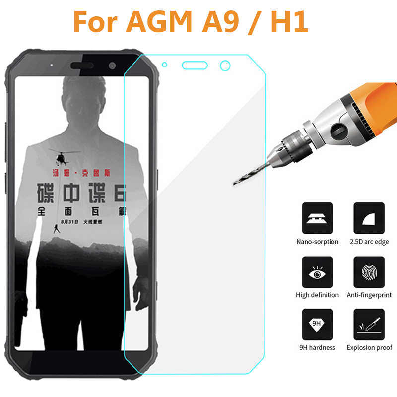 9H Tempered Glass For AGM A9 IP68 Screen Protector High Quality Explosion-proof Phone Glass film For AGM H1 Case Protective Film