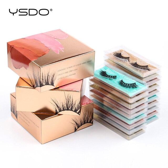 YSDO Mink Lashes Wholesale 5/10/20/100 Pairs 3D Mink Eyelashes Faux Cils Makeup Dramatic False Eyelashes In Bulk Natural Lashes 2