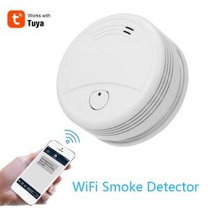 Image 1 - Tuya Intelligente Wifi Strobe Rauchmelder Wireless Feuer Alarm Sensor Tuya APP Control Office Home Rauch Alarm Feuer Protectio