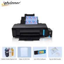 Imprimante Jetvinner A3 DTF pour imprimante Epson L1800 Film de transfert Direct pour tous les vêtements matériels avec Film pour animaux de compagnie DTF encre DTF poudre