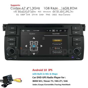 AutoRadio 1 Din Android 10 4G 64G IPS Car DVD Player For BMW E46 Multimedia M3 318/320/325/330/335 Rover75 Coupe GPS Navigation image