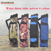 Archery Arrow Quiver Pouch 4 Colors 3Tube Shoulder Arrow Holder For Shooting Hunting Accessories 45 8 5cm arrow quiver oxford cloth arrow bag 2 point single shoulder for archery hunting shooting archery
