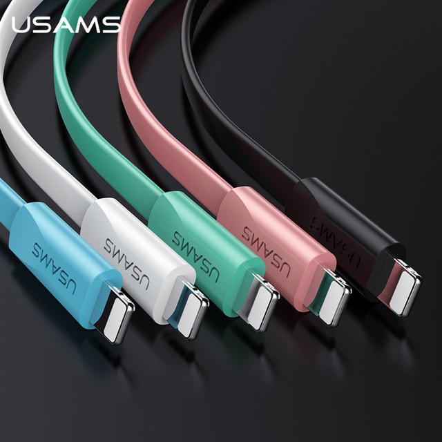 USAMS USB Telefon Kabel für iPhone XR XS Kabel für iPad iPhone 6 7 8 plus Daten Sync USB 2A ladekabel für iOS 12 11 Apple