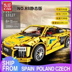 Mould King MOC Serie Técnica Audis R8 V10 velocidad RS5 coche modelo MOC-4463 bloque de construcción 13127 juguete niños regalo de Navidad