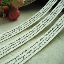 Booksew cercanas etiqueta 100% cintas de algodón Zakka 1,5 CM ancho Etiquetas de Ropa personalizadas coser de accesorios de prendas de vestir Etiquetas Ropa Etiquetas