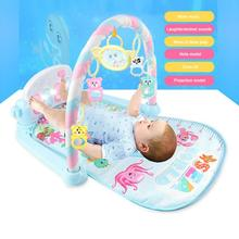 Carpet Piano Activity-Mat Puzzle Playmat Baby with Keyboard And Cute Animal Gym Crawling