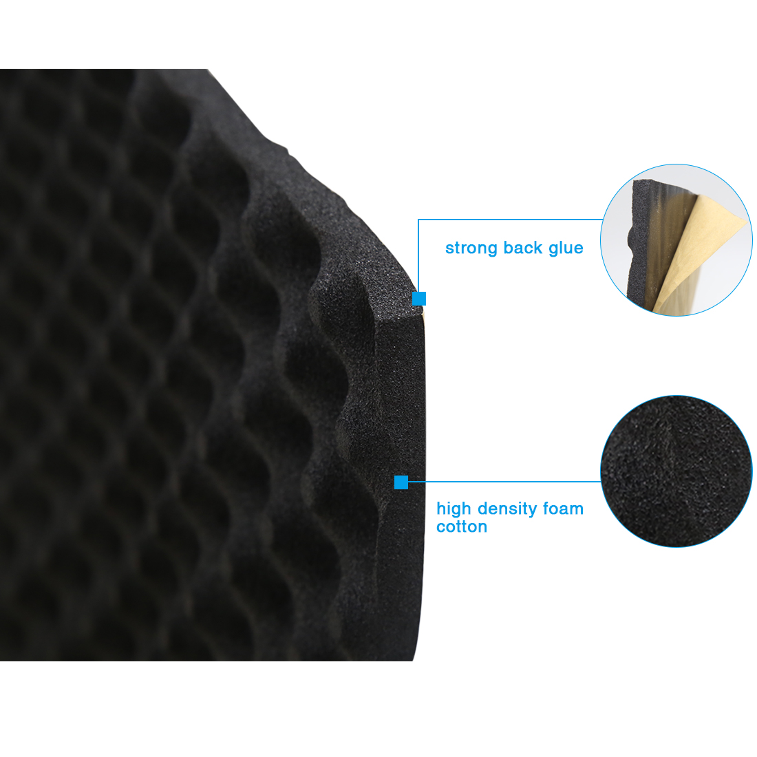 50*100/200/300/500CM Sound Deadener Insulation Mat Noise Heat Shield Insulation Automotive Sound Deadening Cotton Foam