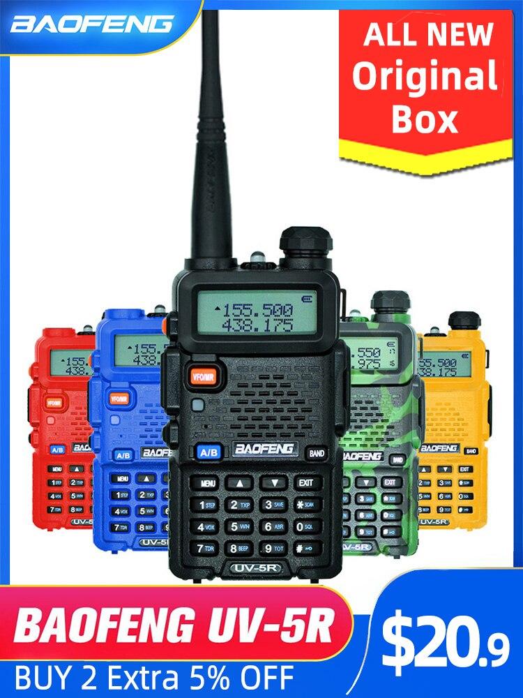 Baofeng VHF UHF Transceiver Radio-Station Walkie-Talkie Ham-Radio Professional UV5R Hunting