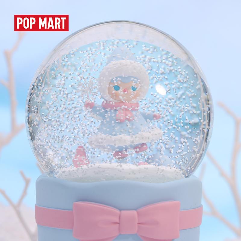POPMART Pucky Snow fairy music crystal ball Doll Binary Action Figure Birthday Gift Kid Toy(China)