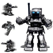 777-615 Битва RC робот симулятор звук и светильник тело чувство дистанционного управления игрушки гибкий бокс и движение роботы игрушки модель