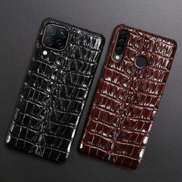 جلد حالة الهاتف ل هواوي الشرف 30 30S X10 20 20i 10 10i 9 8 لايت 9X 8X ماكس 7X 7A V30 برو V20 V10 التمساح الذيل الخلفي غطاء